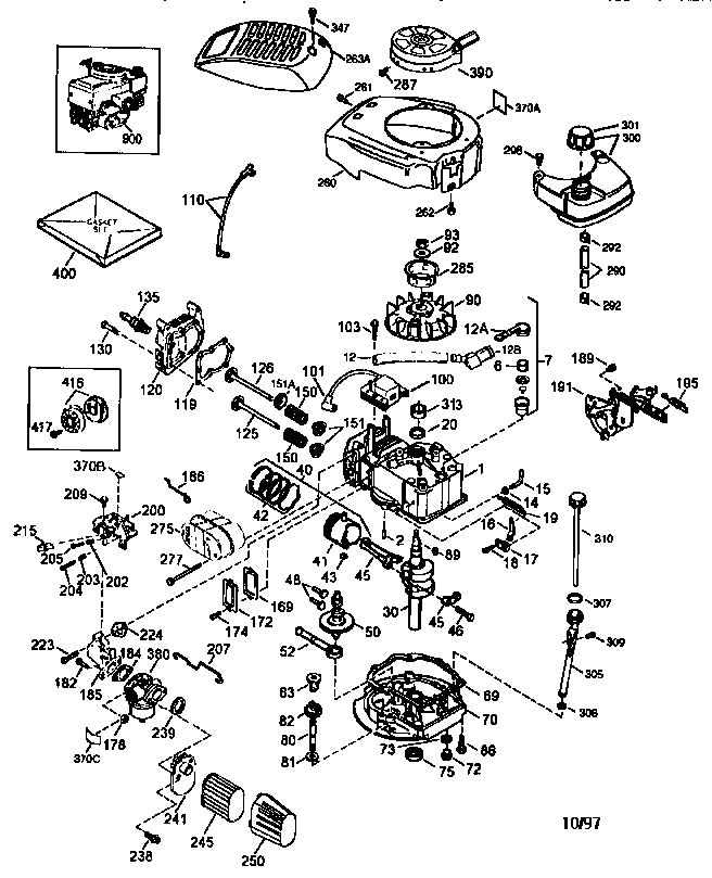 Tecumseh model LEV115-360008A engine genuine parts