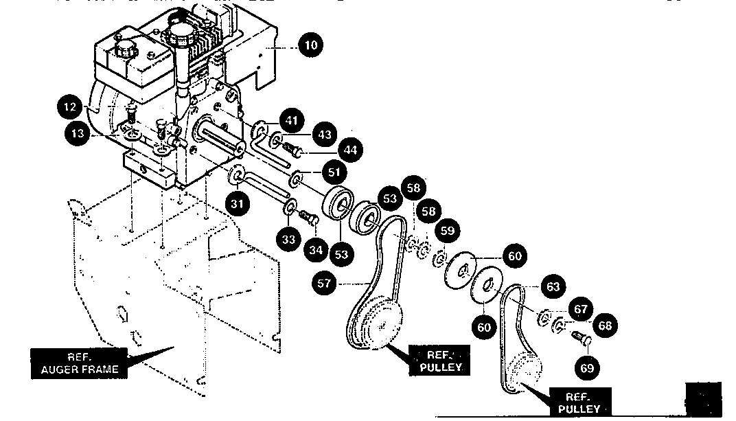 Craftsman model 536888400 snowthrower, gas genuine parts