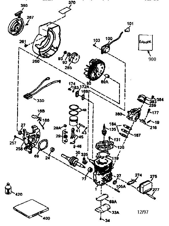 Tecumseh model HSK600-1681S engine genuine parts