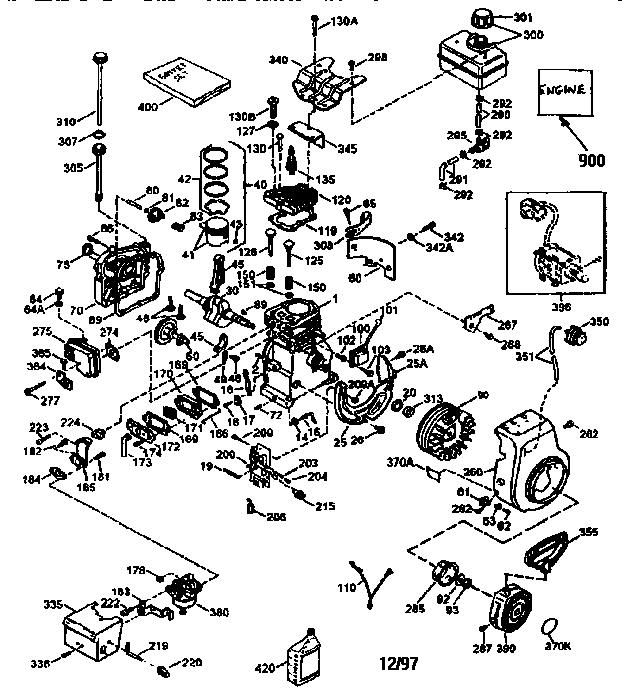 Tecumseh model HSSK50-67259R engine genuine parts
