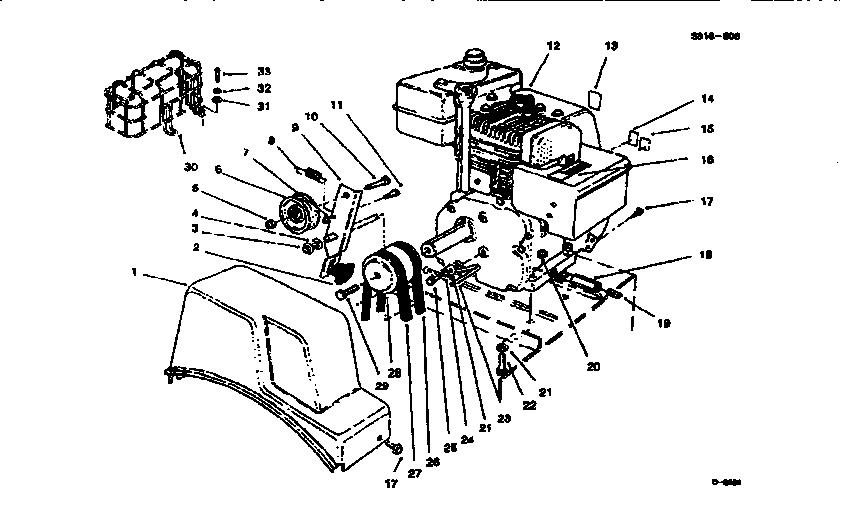 Lawn-Boy model 522R (28230-7900001 & UP) snowthrower, gas