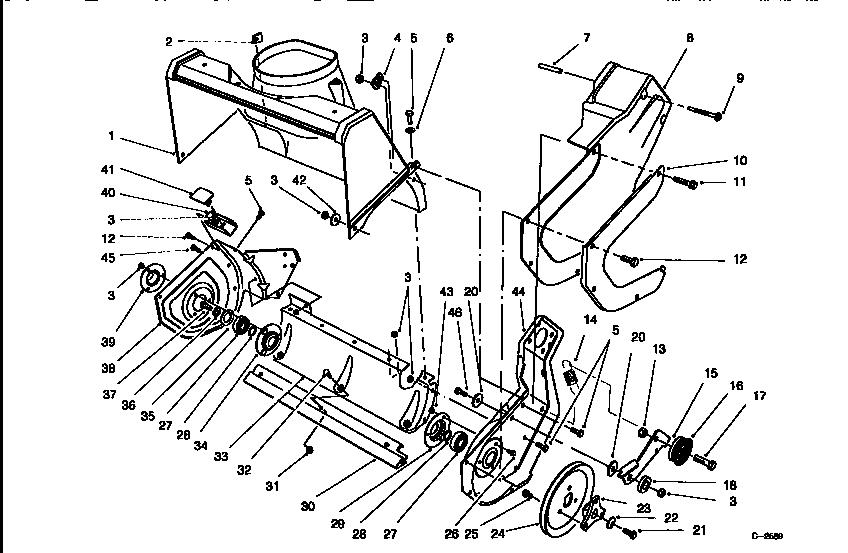 Lawn-Boy model 320 (28220-8900001 & UP) snowthrower, gas