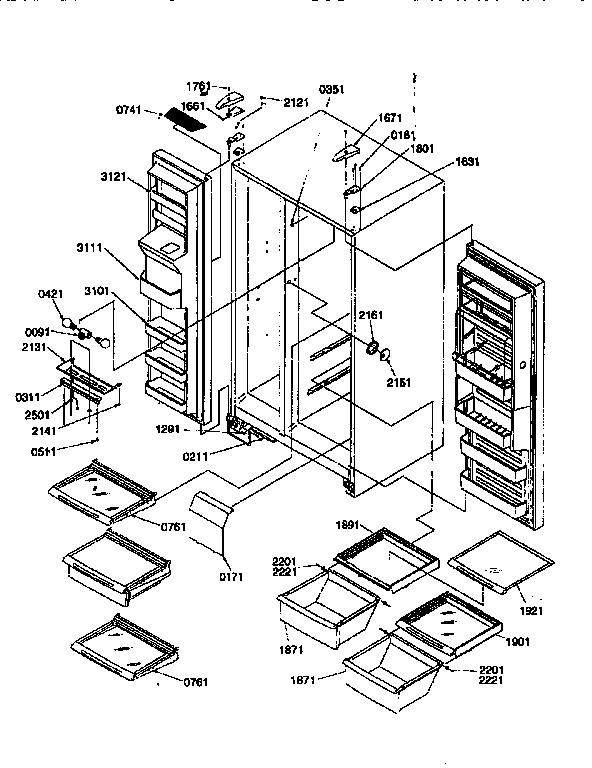 Kenmore model 59657587791 side-by-side refrigerator