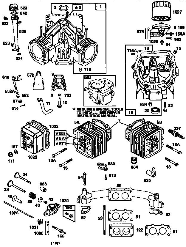 Briggs-Stratton model 351777-1036-A1 engine genuine parts