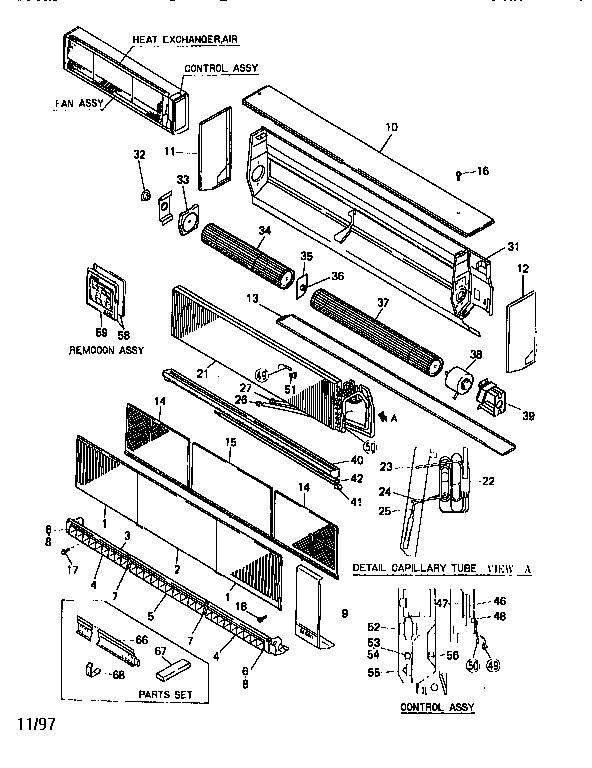 Mitsubishi model FDK210A1 air-conditioner/heat pump