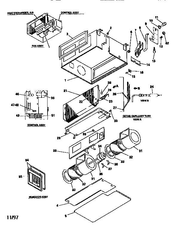 Mitsubishi model FDUM140HA2 air-conditioner/heat pump