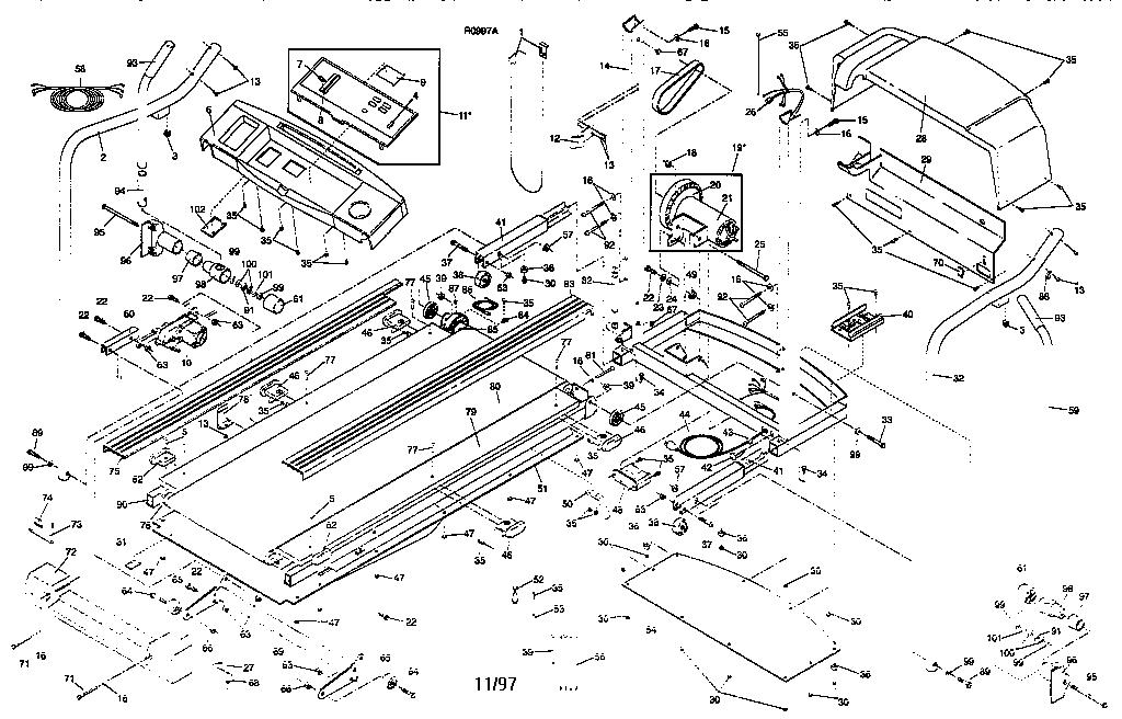 Proform model 831297390 treadmill genuine parts