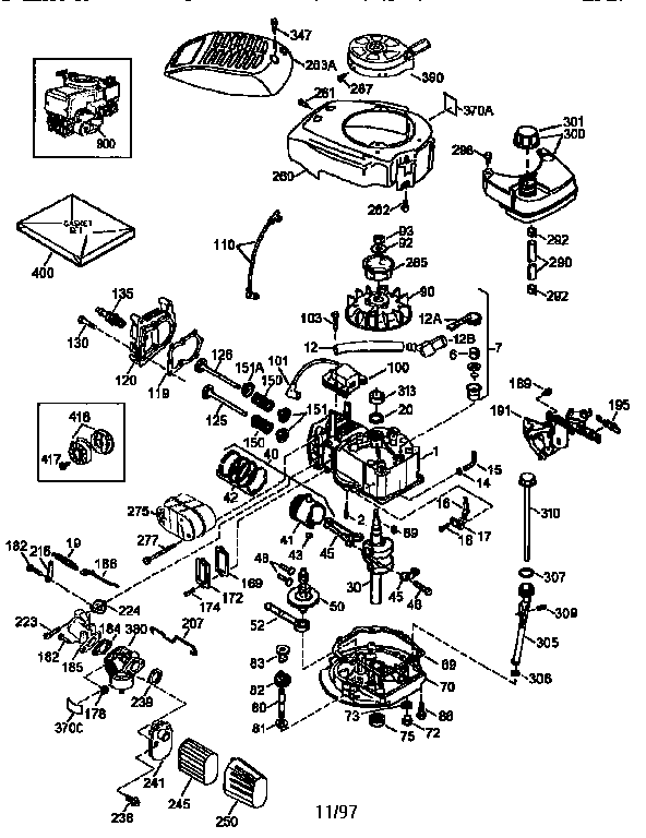 Craftsman model 143986500 engine genuine parts