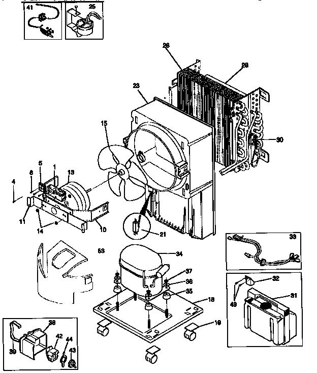 Kenmore model 25358400890 dehumidifier genuine parts