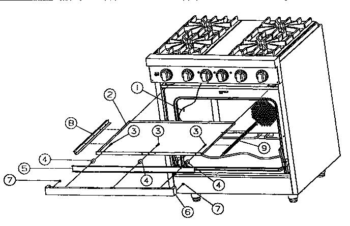 Viking-Range model VDSC305 slide-in range, electric/gas
