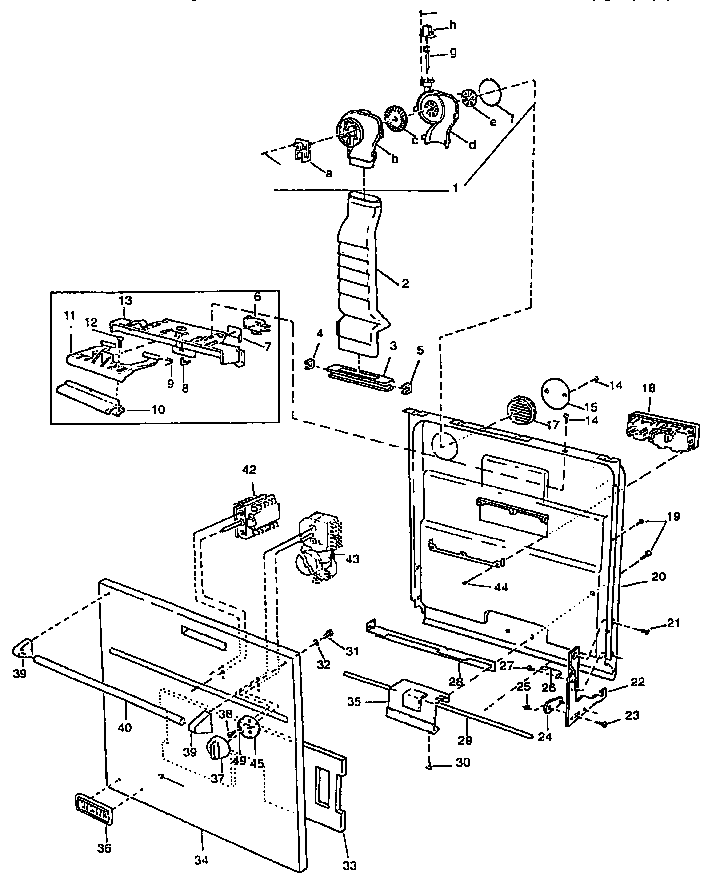 Viking-Range model VUD141 dishwasher genuine parts