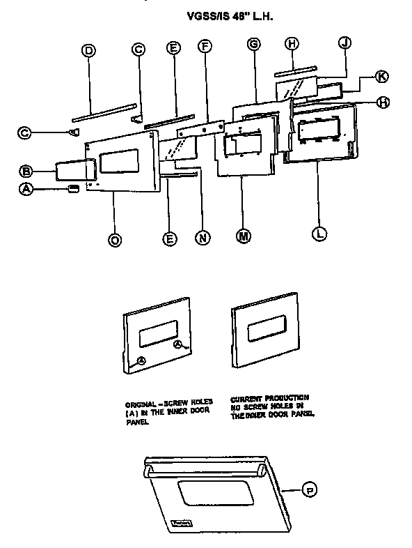Viking-Range model VGSS48 range (gas) genuine parts