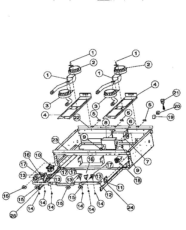 Viking-Range model VGRC48 range (gas) genuine parts