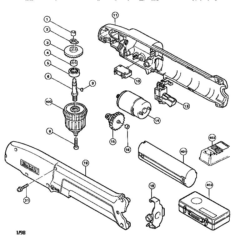 Makita model DA390D drill cordless genuine parts