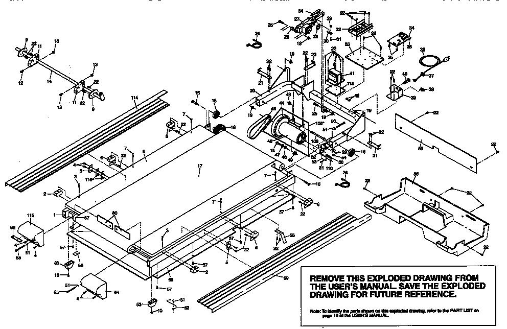 Proform model 831297440 treadmill genuine parts