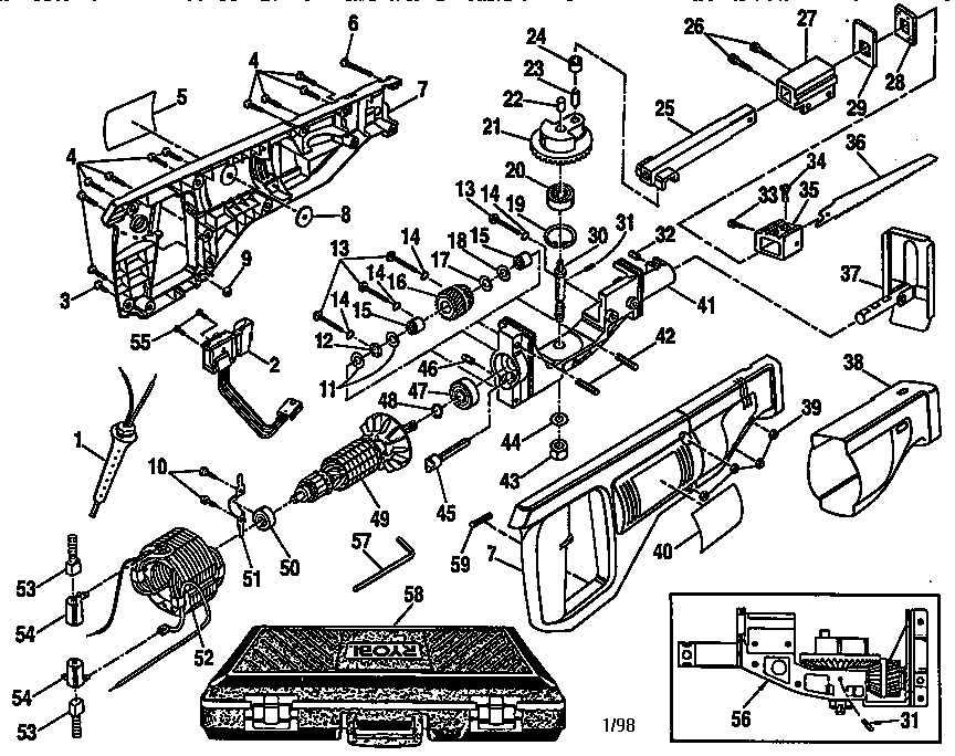 Reciprocating Saw Diagram, Reciprocating, Free Engine