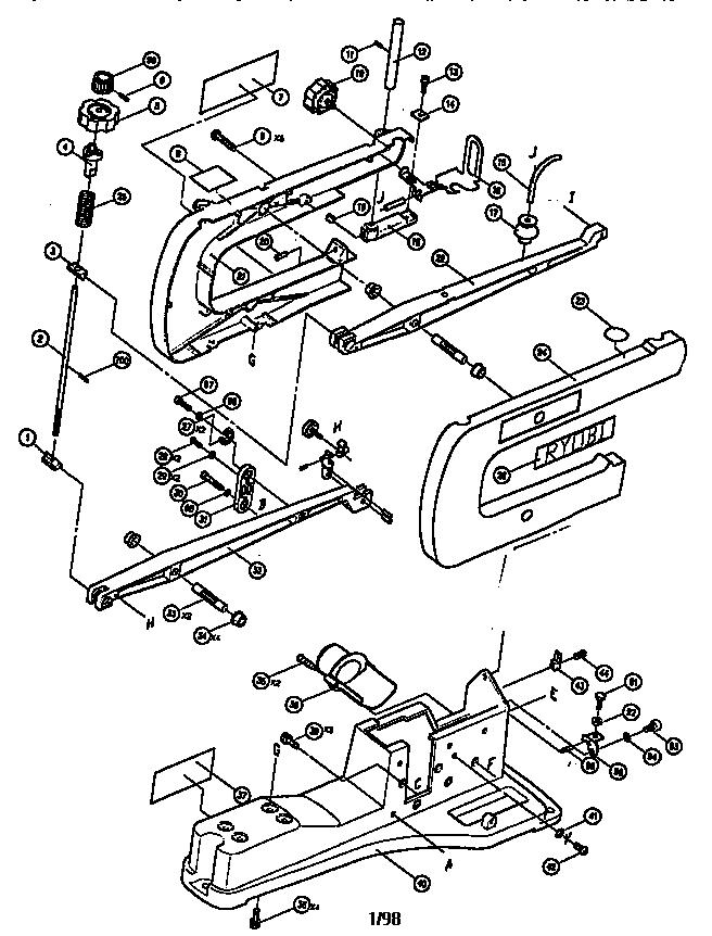 Ryobi model SC165VS saw scroll genuine parts