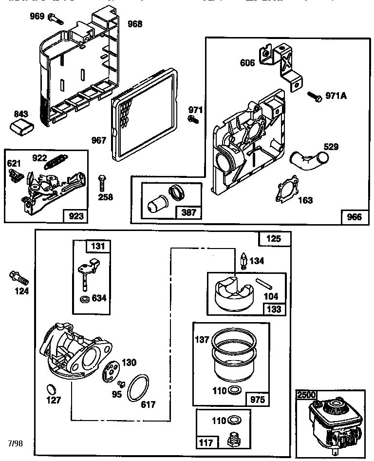 Briggs-Stratton model 12H882-1934-E1 engine genuine parts