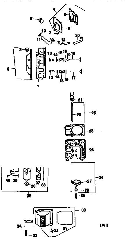 Kohler model CV18S-61554 engine genuine parts
