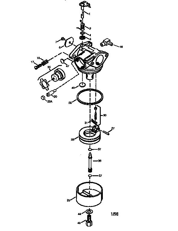 Tecumseh model LEV120-361003A engine genuine parts