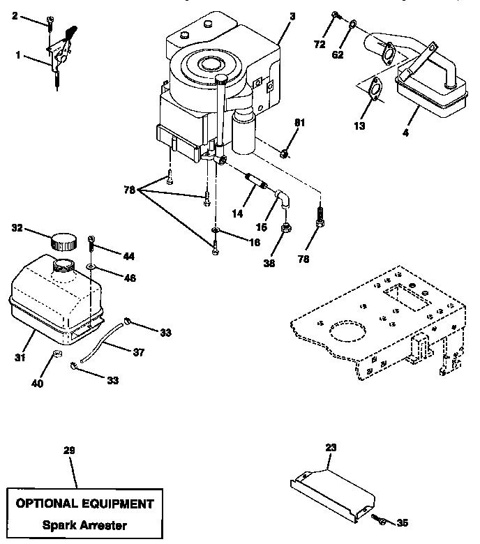 Craftsman model 917270621 lawn, tractor genuine parts
