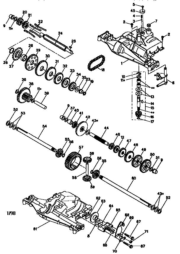 Craftsman model 917270810 lawn, tractor genuine parts