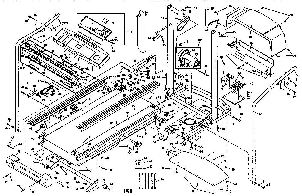 Proform model 831297880 treadmill genuine parts