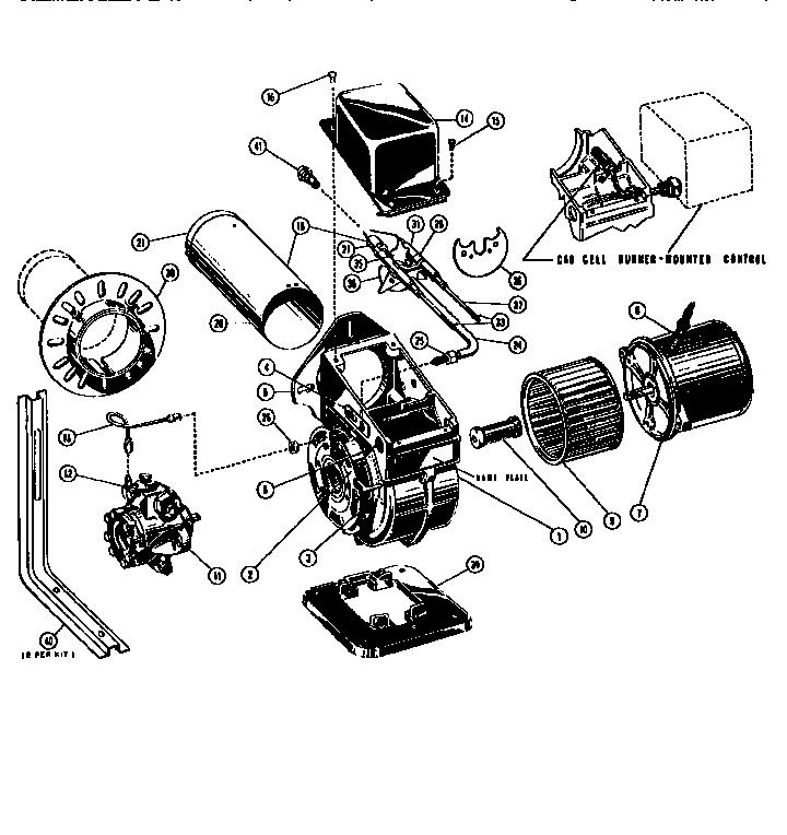 Beckett model S OIL BURNER burner, furnace genuine parts