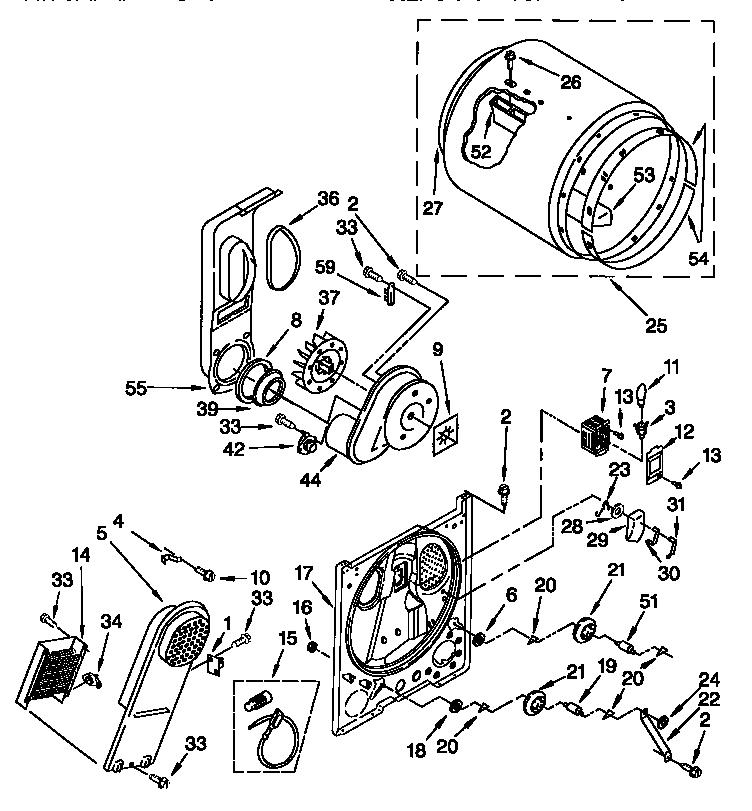 Kenmore model 11067832794 residential dryer genuine parts
