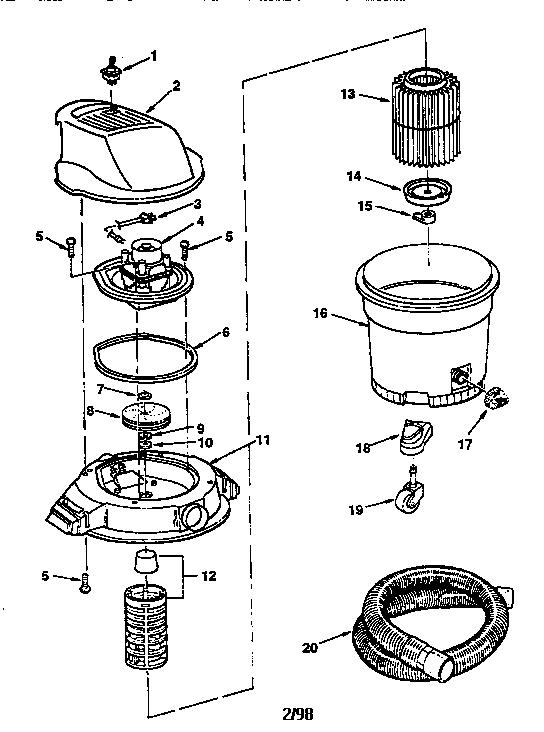 Craftsman model 113177825 wet/dry vacuum genuine parts