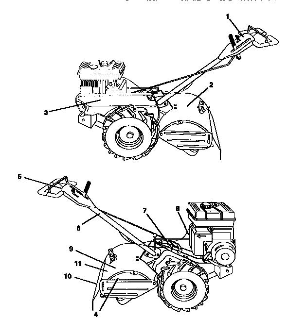 Craftsman model 917293300 rear tine, gas tiller genuine parts