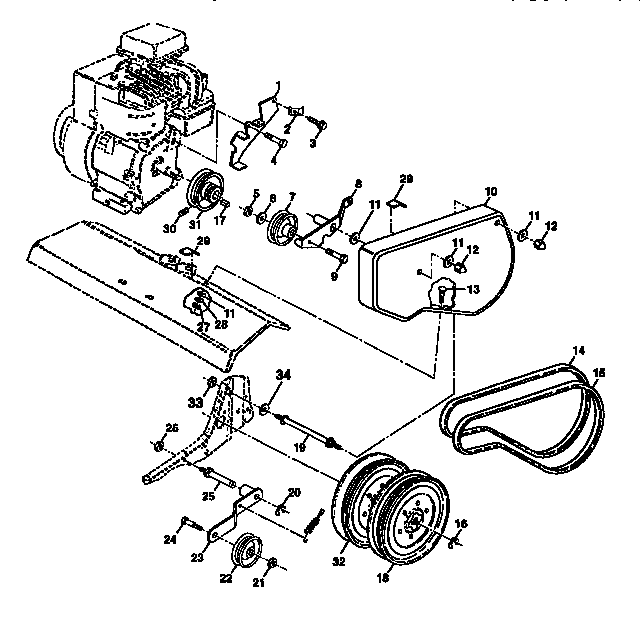Gilson Parts Diagram MTD Rear Tine Tiller Parts Diagram