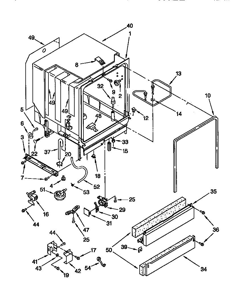 Kenmore model 66515835791 dishwasher genuine parts