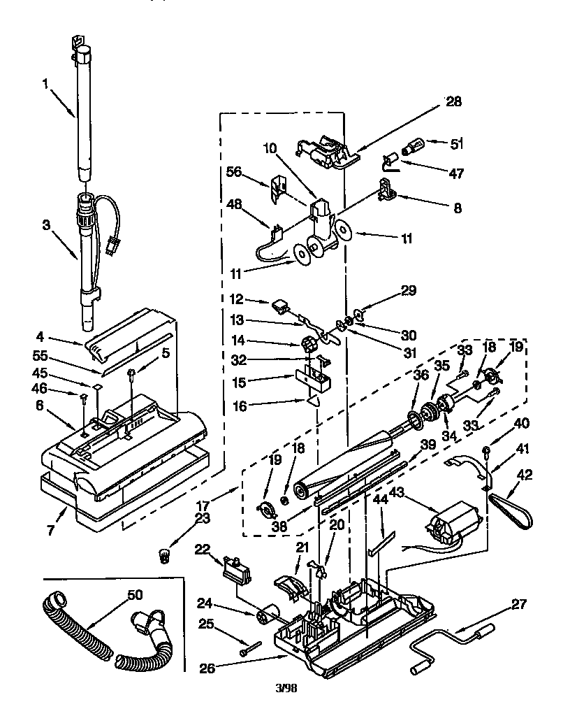 Kenmore model 11658612790 attachments (vacuum) genuine parts