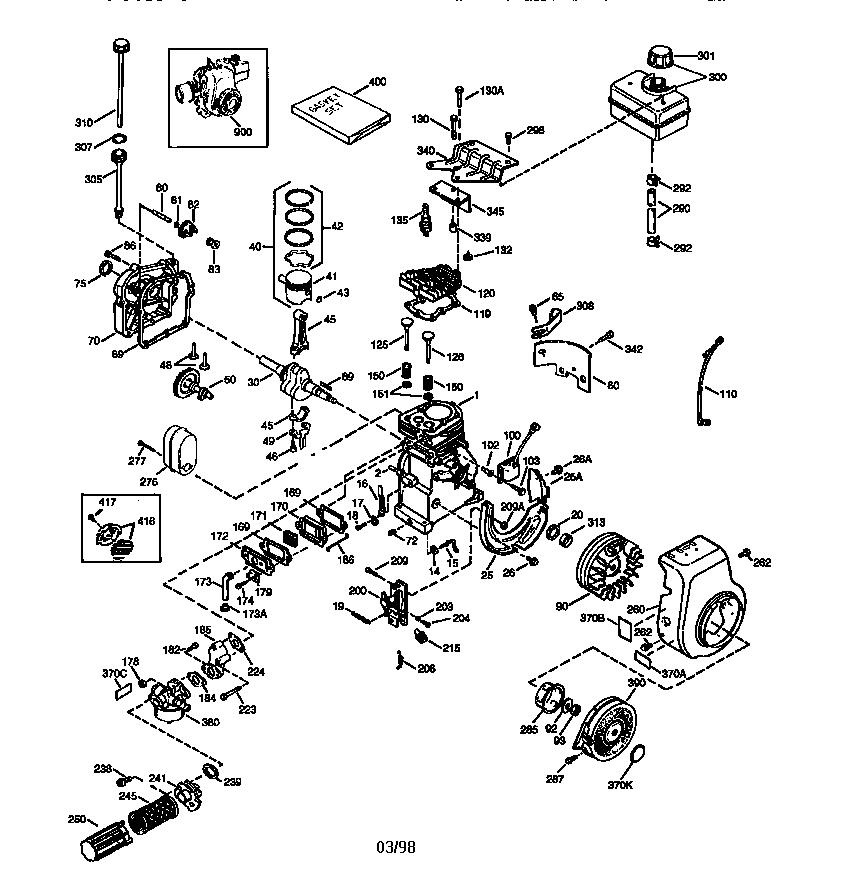 Craftsman model 143984001 engine genuine parts