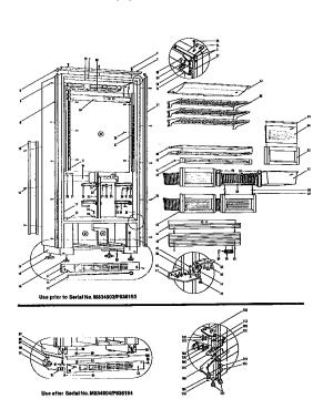 SUBZERO REFRIGERATOR Parts | Model 501f | Sears PartsDirect