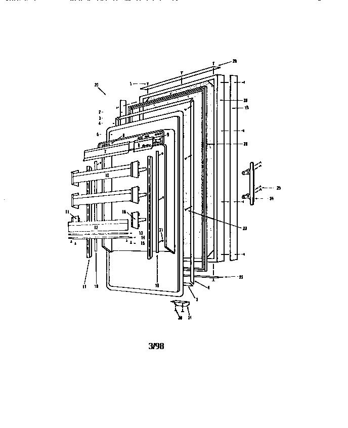 Sub-Zero model 201R kitchen-refrigerator compact genuine parts