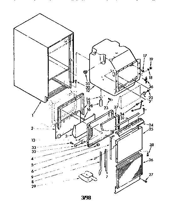 ice maker diagram fluid mosaic sub zero model 505isc freestanding icemaker genuine parts cabinet