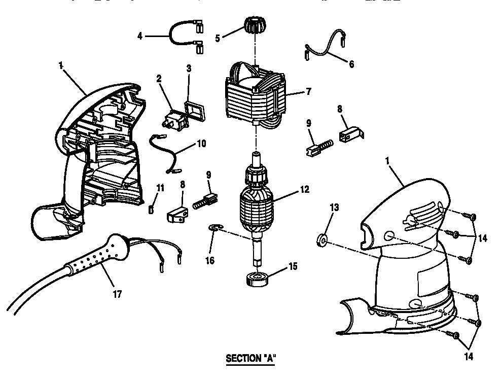 Craftsman model 315116210 sander genuine parts