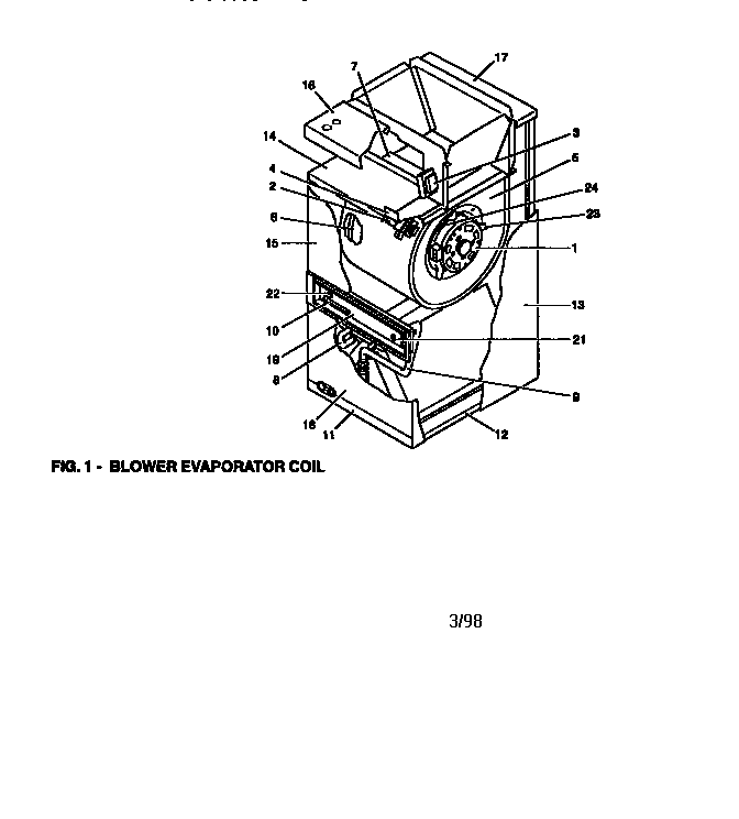 York model F-FP060H06 evaporator coils genuine parts