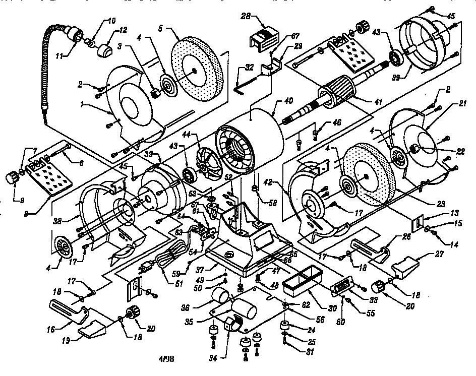 Craftsman model 319211280 grinder bench genuine parts