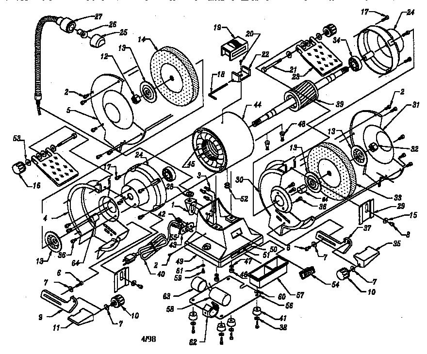 Craftsman model 319211260 grinder bench genuine parts