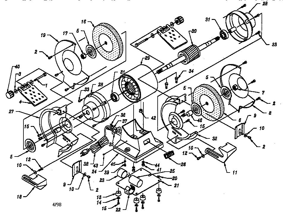 Craftsman model 319211250 grinder bench genuine parts