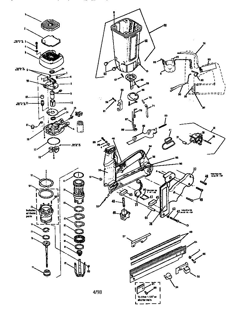 Paslode model IM250F-16 II nailer genuine parts