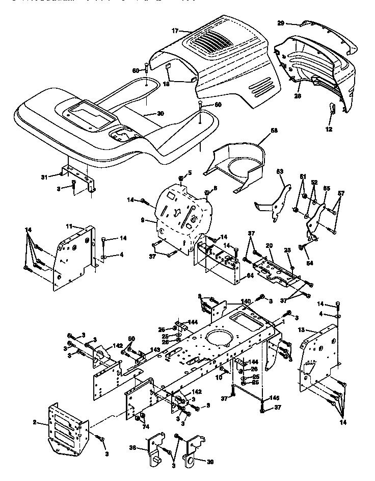 Craftsman model 917270820 lawn, tractor genuine parts