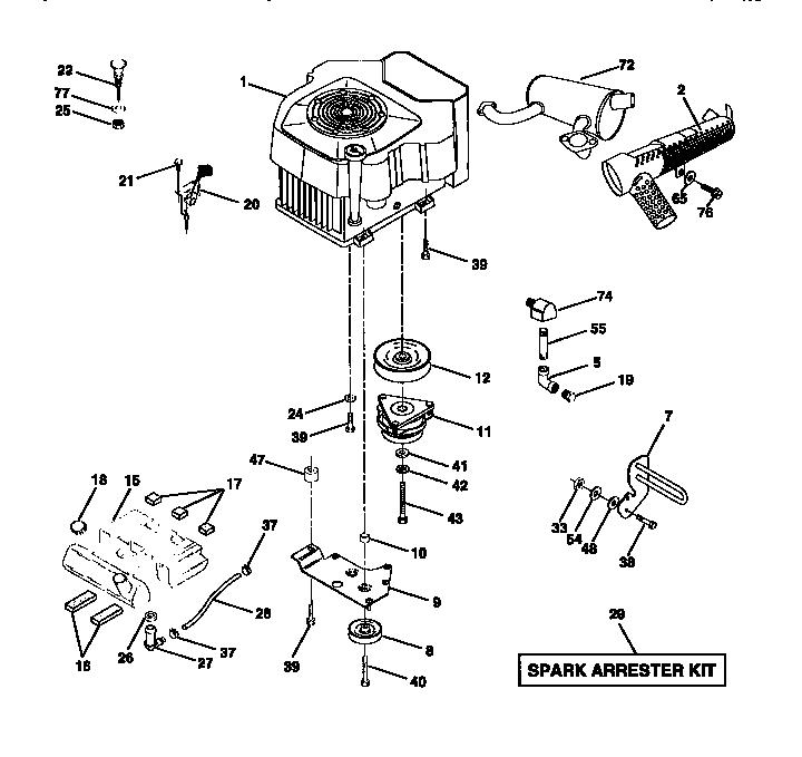 Craftsman model 917273220 lawn, tractor genuine parts
