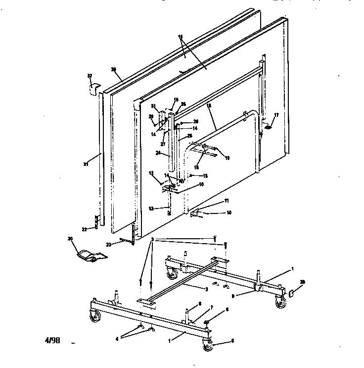 Harvard model T8202 table tennis genuine parts