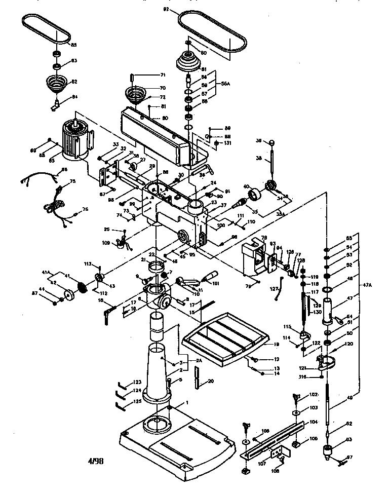 Craftsman model 137229200 drill press genuine parts