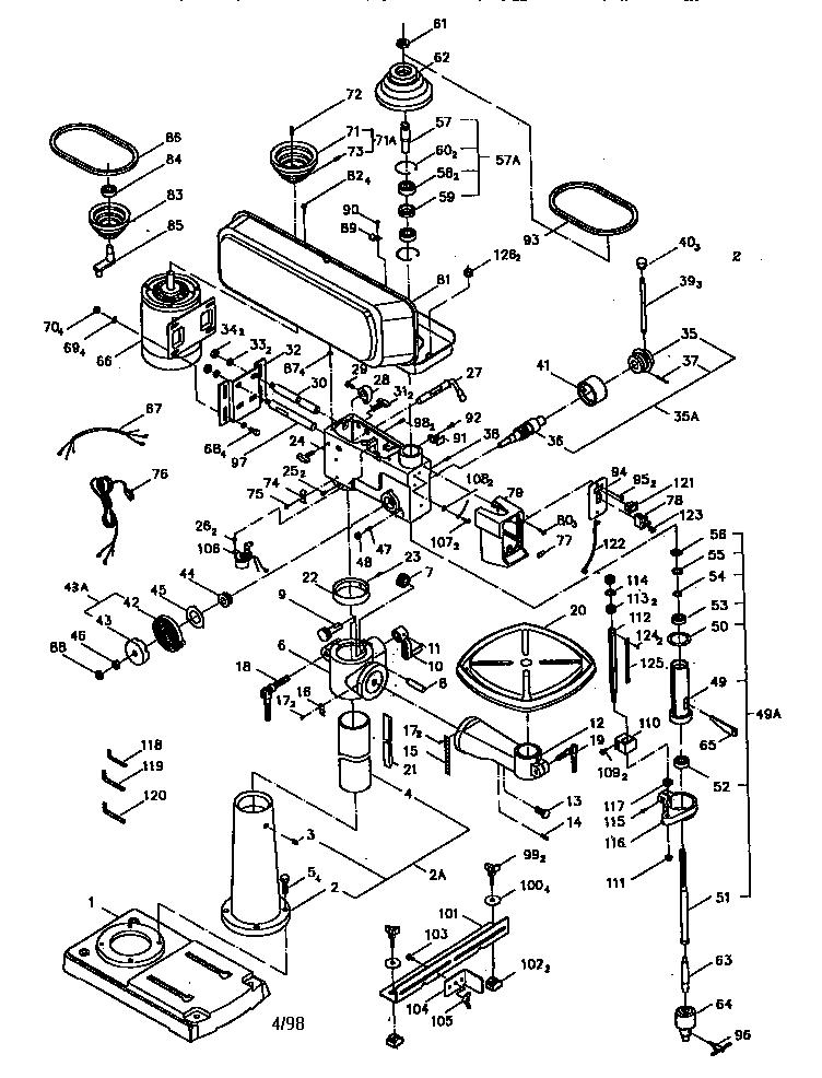 Craftsman model 137229150 drill press genuine parts