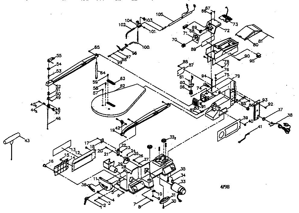 Craftsman model 137226200 miter saw genuine parts